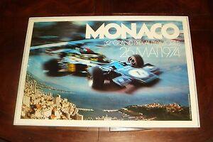 Vintage 1974 MONACO GRAND PRIX Formula 1 POSTER PHOTO PRINT - Lotus, Monte Carlo