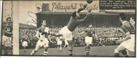 Football Autograph Tommy Burden Bristol City Signed Newspaper Photograph F1233
