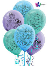 Ariel Little Mermaid Party Supplies LATEX BALLOONS Pack Of 6
