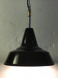 VINTAGE lampada sospensione Ø 30 design industriale HUNA FONTANA ARTE orig. 1965