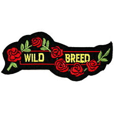 Wild Breed Lady Rider Roses Tattoo Adult Funny Rock Biker Jacket Iron on patch
