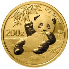 China - 200 Yuan 2020 - Panda - Anlagemünze - 15 gr Gold ST