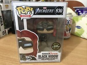 funko pop Vinyl Black Widow Gitd Chase Glow 630 New Protector LE Rare