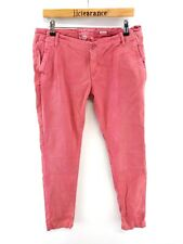 SUPERDRY Womens Chinos Trousers M Medium W33 L29.5 Pink Cotton