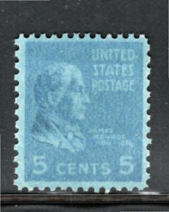 810 5 cent James Monroe Overinked.