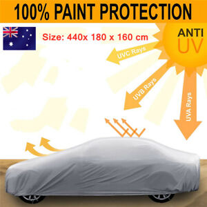 Universal Large Car Cover Outdoor Indoor Waterproof UV Dust Resistant Protection