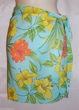 Sarong Wrap Skirt Swimsuit Bathing Suit Cover Up Multi Color Floral Small New