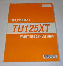 Manuel D'Atelier Suzuki Tu 125 XT Moteur/Électrique/Entretien Etc Pièce 11/1998