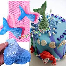 Hada Cola De Sirena Báscula Silicona Mermaid Tail Fondant Molde Tarta Decoración