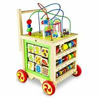 Baby Walker Wooden Activity Toddler Toys 7 in 1 First Steps Educational Toys