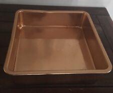 Vintage Retro Anodised Aluminium Large Square Cake Tin copper/orange Raco