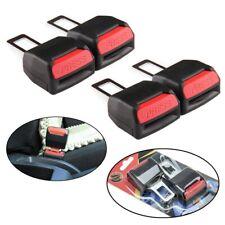4pcs Black Universal Auto Car Safety Seat Belt Buckle Extension Alarm Extender