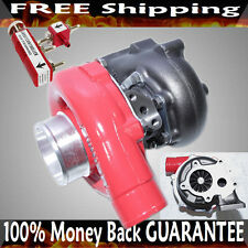 EMUSA T3/T4 T3T4 T04E Turbocharger HYBRID  .63 A/R Turbine+Boost Controller RED