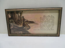 """Vintage Framed Print """"Such is the Salutation of the Day"""""""