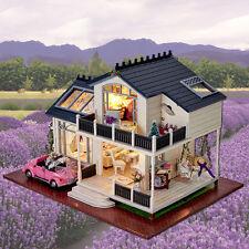 DIY Kits Wood Dollhouse Miniature House Handicraft Kids Toy Happy Birthday Gift