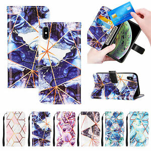 Marble Case For One Plus 8T/1+ 8T Leather Flip Wallet Card Stand Phone Cover