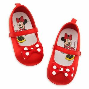 Disney Store Minnie Mouse Baby Costume Shoes Polka Dot Ears 0 6 12 Months