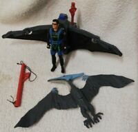 Jurassic Park Lost World Ian Malcom With Glider & Alpha Pterodactyl JP05 Kenner