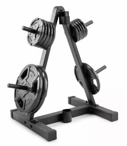 NEW Weider Weight Plate and Barbell Storage Rack Compact Design 210Lb Max Weight