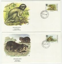 Swaziland 1989 (2) First Day Cover Small Mammals Green Monkey & Rock Dassie