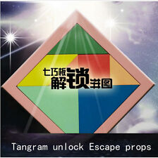 Game props Tools Tangram unlock simulation game Room Escape puzzles open lock