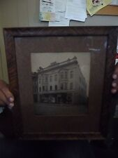 Vintage Framed Picture (Photo?) of Shea Building, Frostburg,Maryland