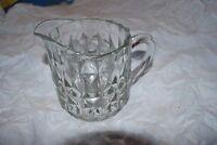 """5"""" Vintage Depression Windsor-Clear Glass Pitcher 16 oz Jeannette Glass pitcher"""