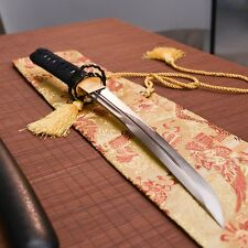hand forged 1095 clay tempered tanto japanese samurai real sword knife