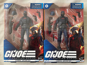 GI JOE CLASSIFIED COBRA ENEMY INFANTRY TROOPER FIGURE LOT IN HAND