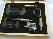 gute Qualität 3-tlg. Außen- verstellbar metrisch Mikrometer Hartmetall Amboß