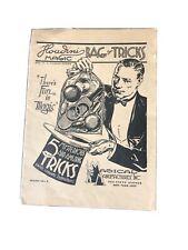 Vintage Houdini Magic Kit Instructions