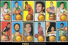 Lot(64) 1970 Topps Basketball w/ David Riordan Miles Robinson Quick, EXMT/NRMT
