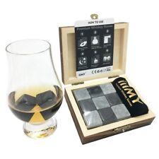 Chilling Rocks Whisky Stones Set Beverage Cooler No Dilution Luxury Best Gift