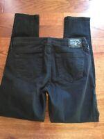 True Religion Women's Jeans Halle Sz 29 Skinny Mid Rise Black Stretch