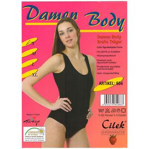 Damen Body Breiteträger Größe L Schwarz Cilek NEU