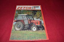 Zetor 5011 Tractor Dealer's Brochure LCOH