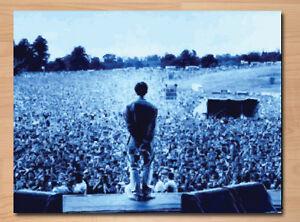 ***Oasis - Liam Gallagher - Blue -  Canvas Art Print.Liam Slane***