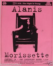 Alanis Morissette 1996 New Orleans Concert Tour Poster - Alternative Rock Music