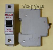 Sector SVMCB50/B - 50a Type B Single Pole MCB New