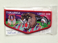 TUKARICA OA LODGE 266 SERVICE FLAP SCOUT PATCH 1910 2010 100 YEARS RED BORDER
