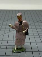 Vintage Barclay Lead Figure of Lady in Purple Or Pink Attire G7