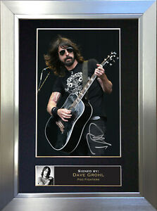 DAVE GROHL Foo Fighters Signed Autograph Mounted Photo Repro A4 Print 77