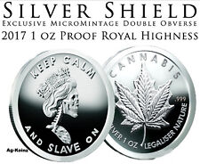 Slave Queen Six #7 - 1 oz 2017 Royal Highness Obverse Proof Silver Shield 999 AG