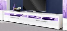 Lowboard TV-Schrank Fernsehtisch 200cm Wohnzimmer weiß Hochglanz Modern 77027686