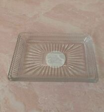 The Pioneer Woman Adeline Crystal Clear Glass Soap Dish Bath Kitchen NEW