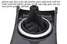 BLACK STITCH FITS MAZDA CX-7 2006-2012 MANUAL GEAR BOOT REAL BLACK LEATHER NEW