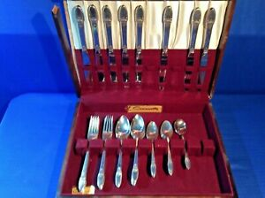 Lot 1847 Rogers Bros FIRST LOVE Silverplate Flatware 33 Pieces