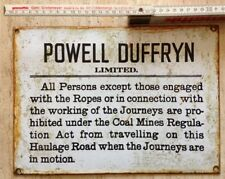 Powell Duffryn Limited - Enamelled Sign. RARE PIECE. FREE UK POSTAGE.