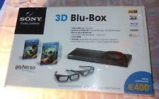 """Sony 3D """"Blu-Box"""" con Lettore Blu-Ray 3D + 2 Paia Occhialini 3D + 2 Film in BR3D"""