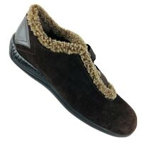 STUART WEITZMAN Women's Brown Suede Faux Shearling Lined Winter Shoes  sz 11